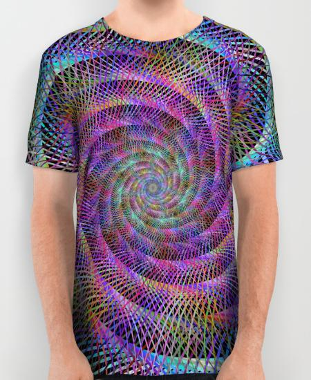 Spiral Mens Printed Shirt
