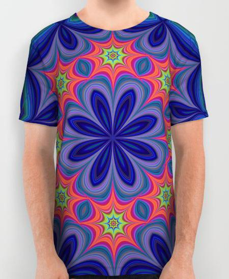 Kaleidoscope Mens Printed Shirt