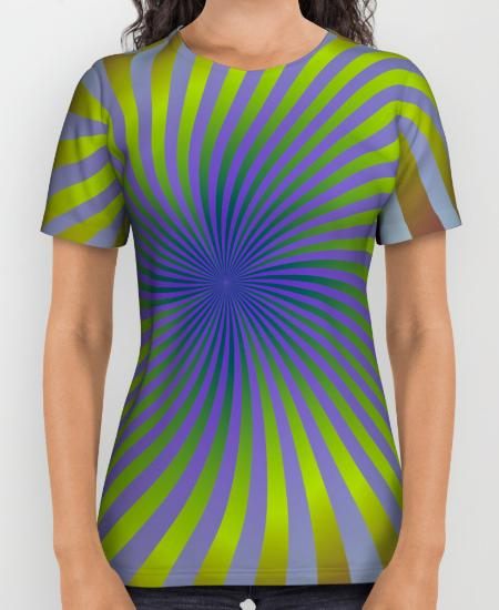 Colorful swirl background Womens Printed Shirt