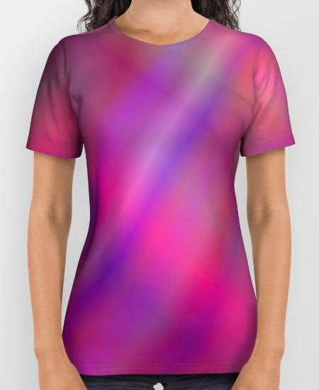 Magenta colorful abstract Womens Printed Shirt