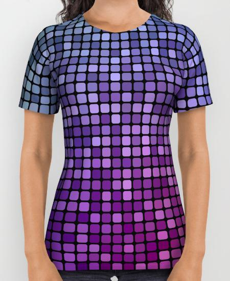 Colorful mosaic Womens Printed Shirt