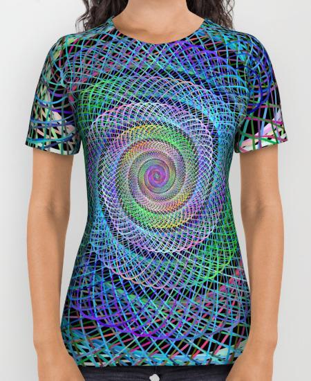 Spiral Womens Printed Shirt