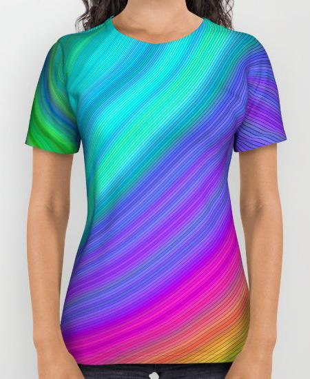 Rainbow Womens Printed Shirt