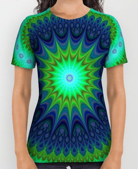 Winter mandala Womens Printed Shirt