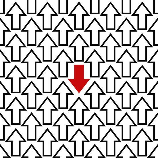 Anti trend arrow pattern Art Print