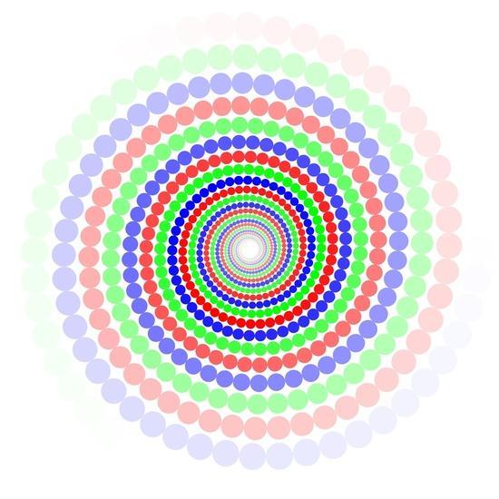 Hypnotic spiral circles Art Print