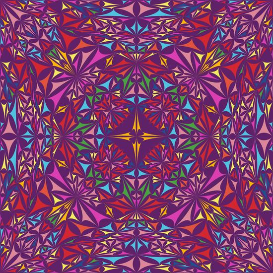 Colorful kaleidoscopic triangle design Art Print