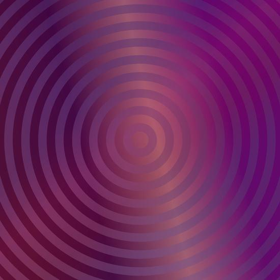 Purple concentric circles Art Print