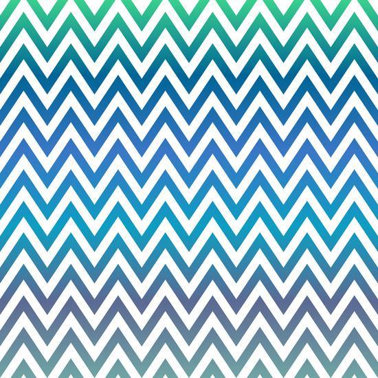 Blue green chevron pattern Art Print