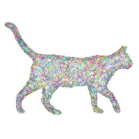 Colorful dust kitten Art Print