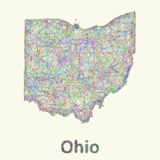 Ohio map Art Print