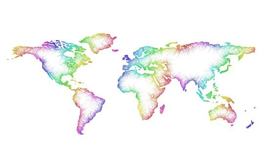 Art prints printedgift world map art print gumiabroncs Image collections