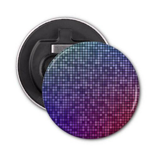 Disco fever pixel mosaic Button Bottle Opener