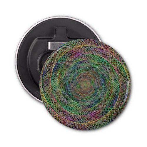 Multicolor fractal Button Bottle Opener