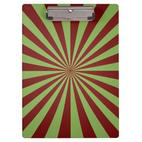 Red green rays Clipboard