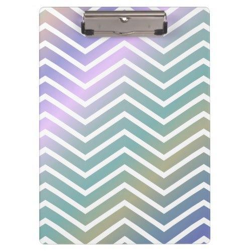 Multicolor chevron pattern Clipboard