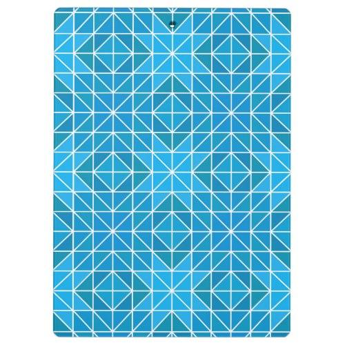 Blue triangle mosaic Clipboard