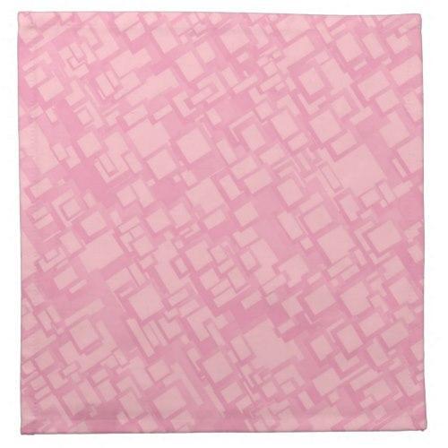 Pink rectangle pattern Cloth Napkin