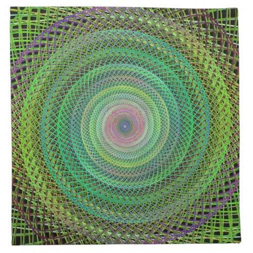 Multicolor fractal Cloth Napkin
