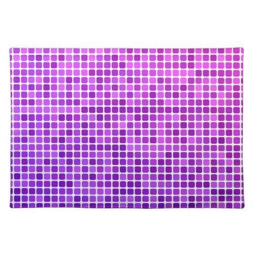 Pink purple pixel mosaic Cloth Placemat