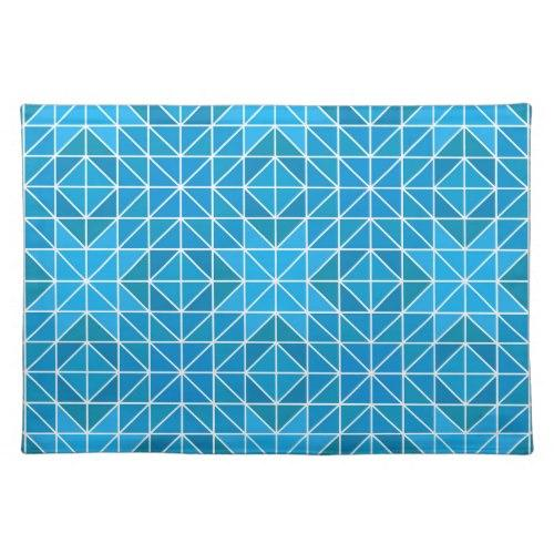 Blue triangle mosaic Cloth Placemat