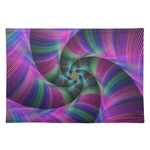 Spiral tentacles Cloth Placemat