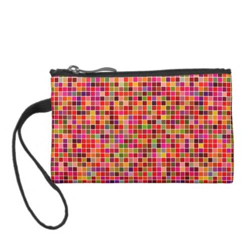 Red colorful mosaic Coin Purse