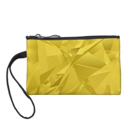 Golden abstract triangles Coin Purse