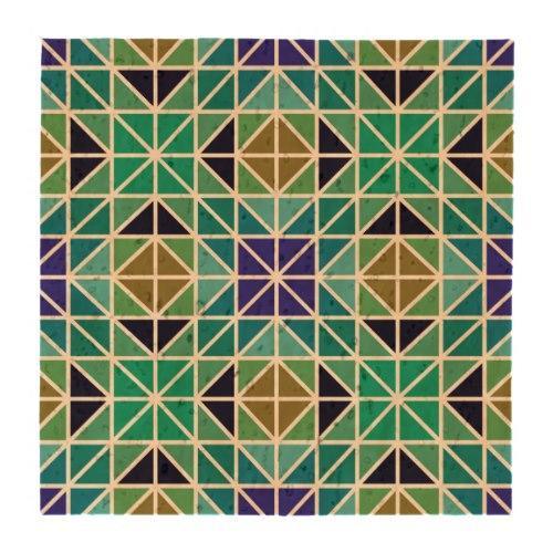 Blue colorful tiled mosaic Lightweight Cork Coaster