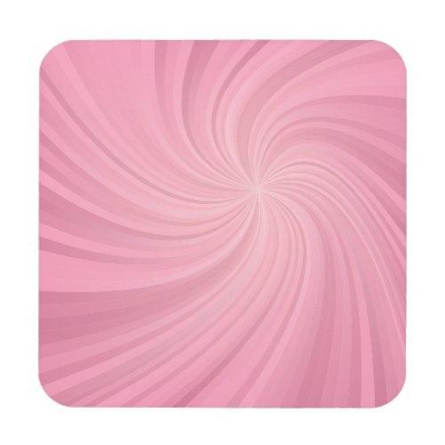 Pink spiral Regular Cork Coaster