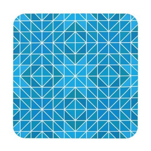 Blue triangle mosaic Regular Cork Coaster