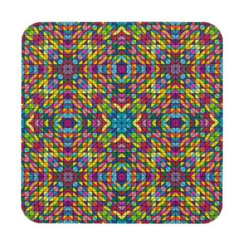 Colorful glass mosaic Regular Cork Coaster
