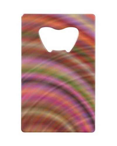 Colorful abstract Credit Card Bottle Opener