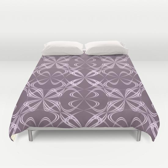 Calligraphy pattern Duvet Cover