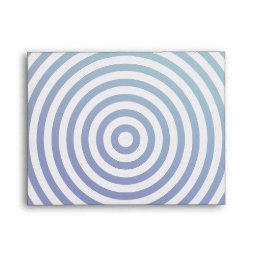 Blue hypnotic circles A2 Envelope