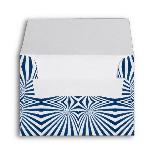Blue repeating hypnotic pattern A2 Envelope