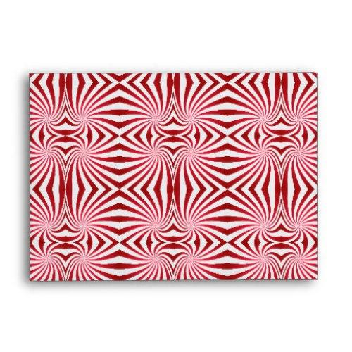 Red seamless swirl pattern A6 Envelope
