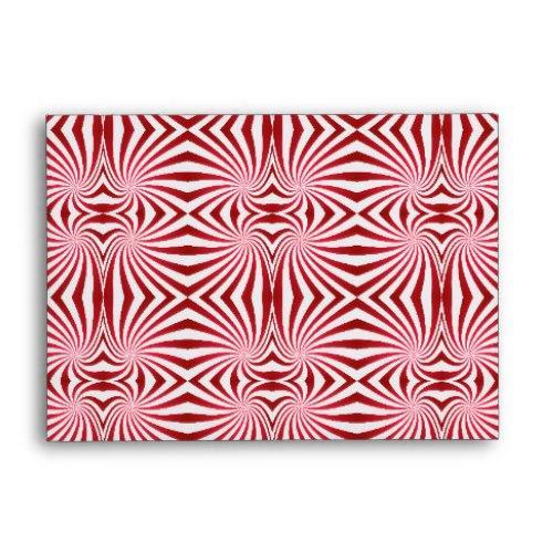 Red seamless swirl pattern A6 Envelope