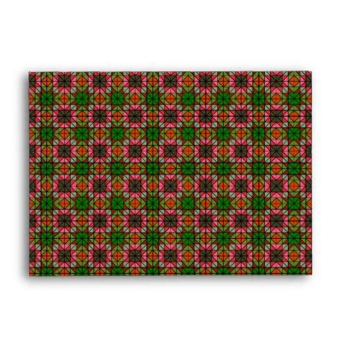 Colorful triangle mosaic pattern A6 Envelope