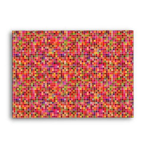 Red colorful mosaic A6 Envelope