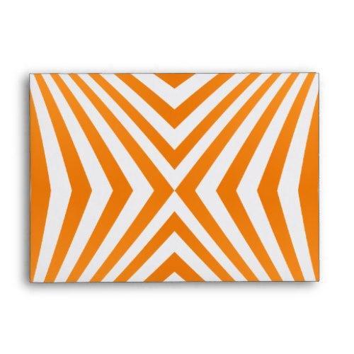 Orange spiral pattern A6 Envelope