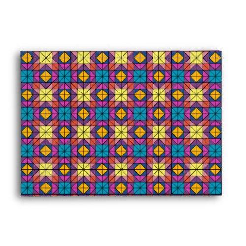 Multicolor glass mosaic A6 Envelope