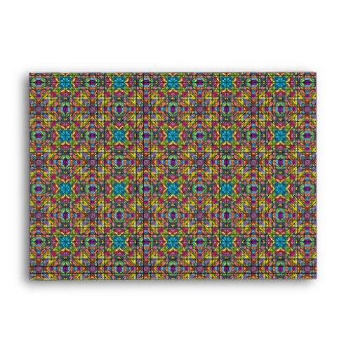Colorful glass mosaic A6 Envelope