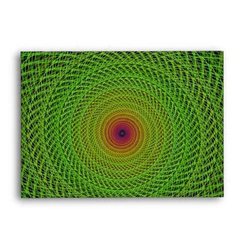 Green fractal A6 Envelope