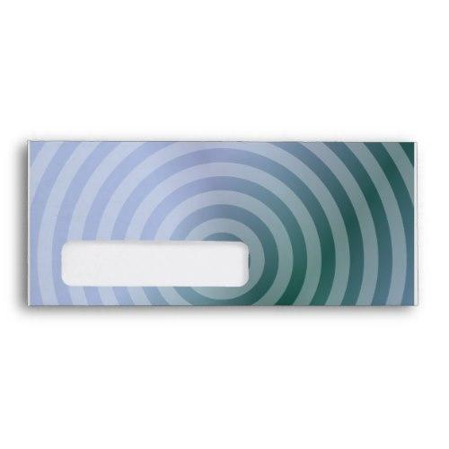 Teal concentric rings Windowed Envelope