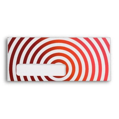 Red concentric circles Windowed Envelope