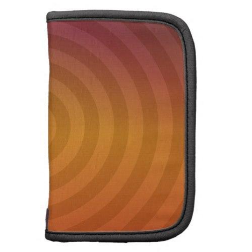 Orange metallic rings Folio Planner