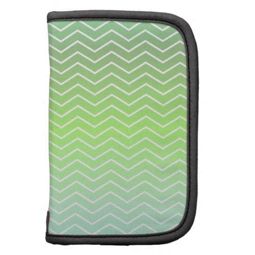 Green zigzag pattern Folio Planner