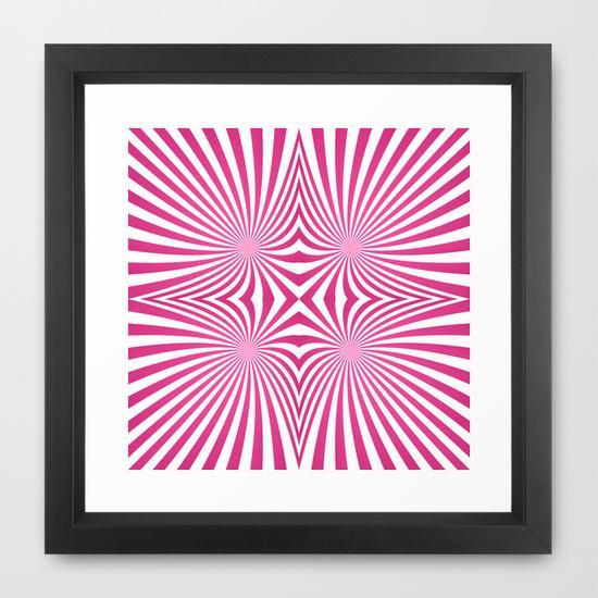 Pink seamless swirls Framed Art Print