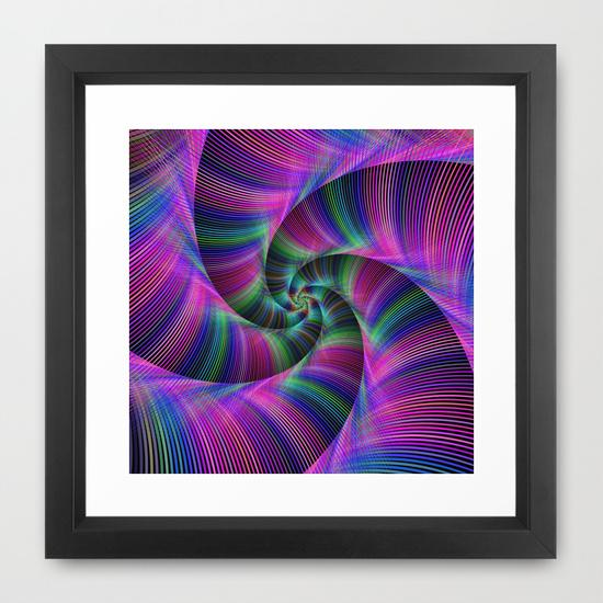 Spiral tentacles Framed Art Print